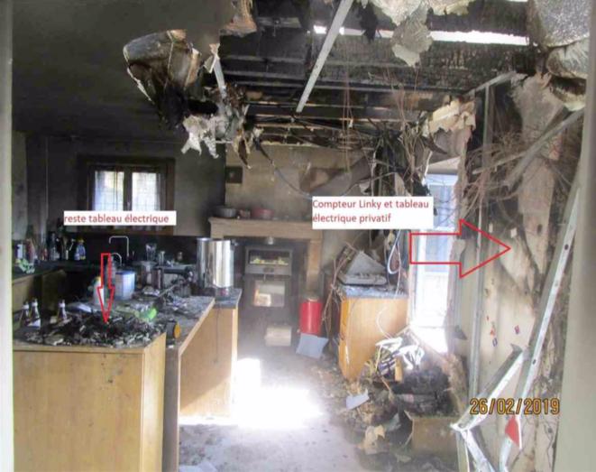 Photo extraite du rapport d'expertise sur l'incendie de Langoiran.