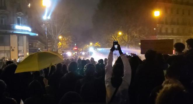 Place de la République, samedi 12 décembre en fin de journée