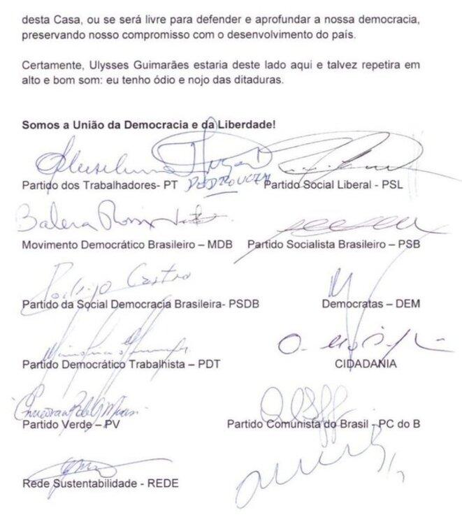 Le 18/12, formation d'un Bloc contre le candidat indiqué par Bolsonaro. (2e feuillet)