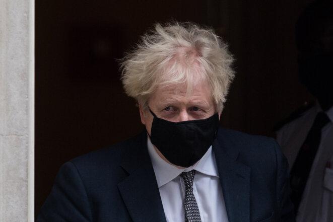 Le Premier ministre britannique Boris Johnson, le 16 décembre 2020, à Londres. © WIktor Szymanowicz /NurPhoto/AFP