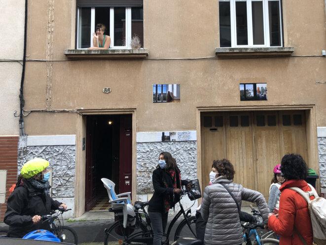 Exposition 1heure 1km 0,24m² dans les rues de Toulouse © Manu Buttner