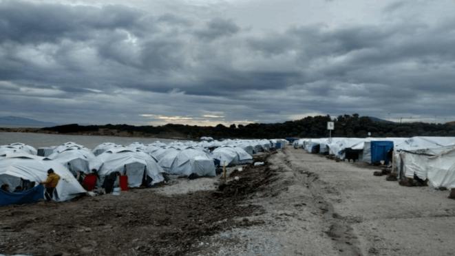 Nouveau camp militaire de Lesbos © Réfugié du camp
