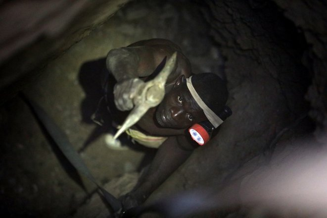 A gold mine in Nigeria in December 2019. © Kola Sulaimon/AFP