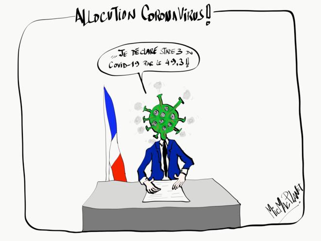Allocution Coronavirus © MicMacPlanet
