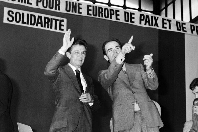 Enrico Berlinguer et Georges Marchais, le 3 juin 1976. © STF / AFP