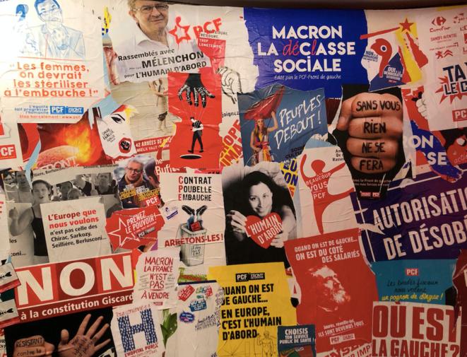 À l'entrée de l'exposition « Un siècle de luttes du PCF sur les murs de France ». © DR