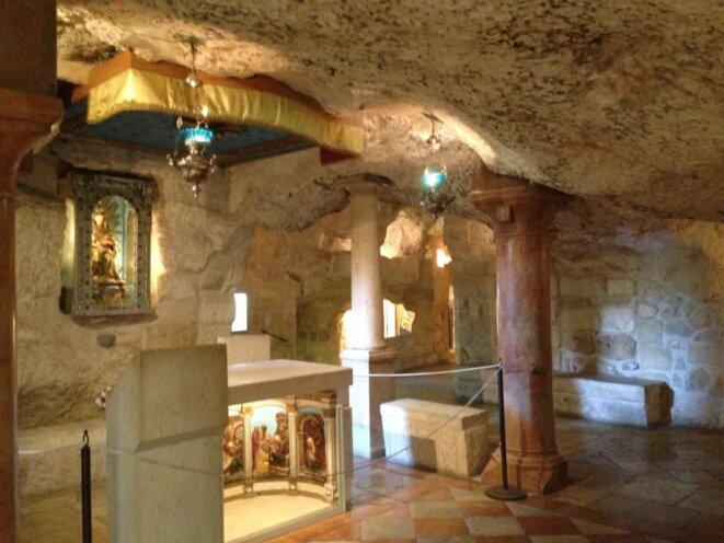 Une grotte aménagée comme étant celle de la Nativité, devenue un lieu de pèlerinage
