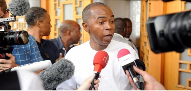 Jean Gaspard Ntoutoume Ayi, Opposant, membre du parti Union nationale et du collectif Appel à agir© 2020 D.R./DBNEWS