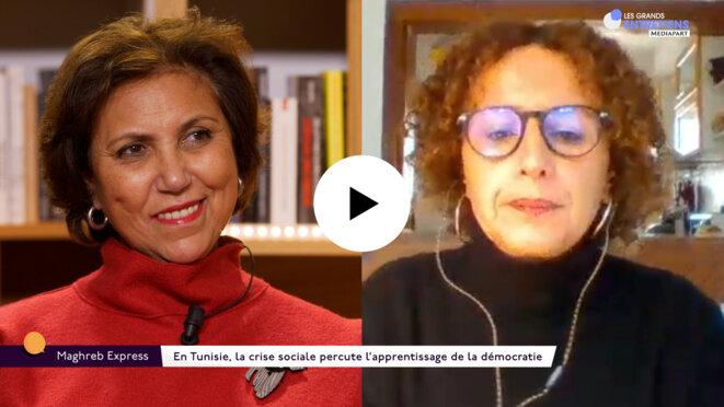 Khadija Mohsen-Finan et Olfa Lamloum. © Mediapart