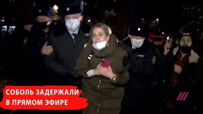 21 décembre, arrestation de Lioubov Sobol © Rain-TV