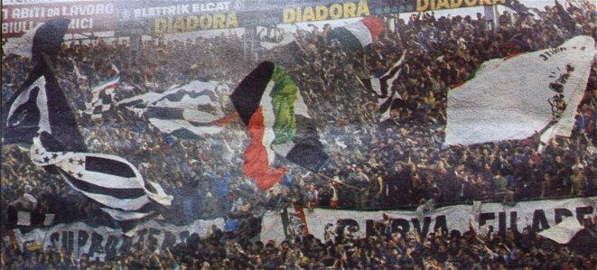 Messe noire et blanche à Turin © Patrice Morel, 1984 (photo parue dans Le Progrès de Lyon)