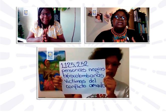 Encuentro virtual organizada por la Comisión para el Esclarecimiento de la Verdad el 13 agosto de 2020: «Impactos del conflicto armado en la familia negra» © Comisión para el esclarecimiento de la verdad - Colombia