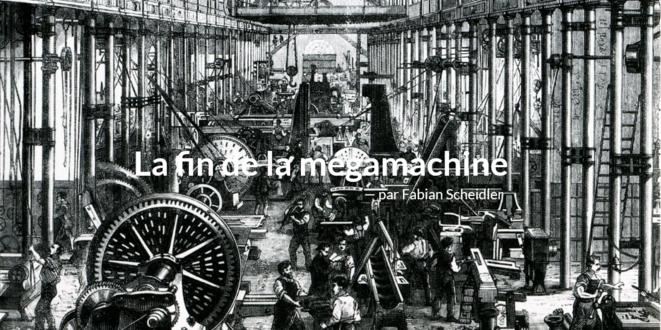 Capture d'écran du site consacré au livre La fin de la mégamachine