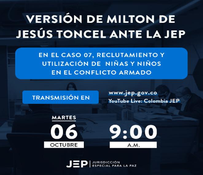 Audiencias publicas de la JEP para el macro caso sobre reclutamiento y utilización de niñas y niños en el conflicto armado © Jurisdicción Especial para La Paz -  Colombia