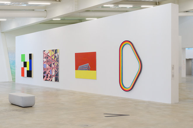 """Vue de l'exposition """"Milléniales. Peintures 2000 - 2020"""", Frac MECA Nouvelle-Aquitaine, 2020 © Photo: JC Garcia"""