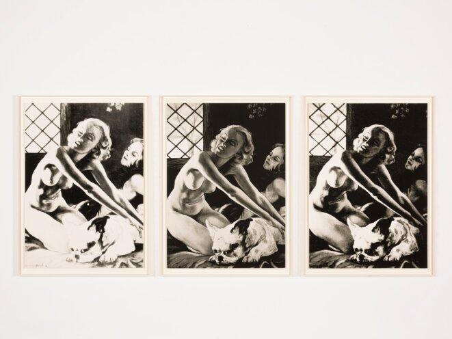 Nicolas H. Muller, Picabia sans Aura, 2016, huile sur carton, 106 x 76 cm chaque, collection Frac Nouvelle-Aquitaine MÉCA © Nicolas H. Muller, photo J. C. Garcia