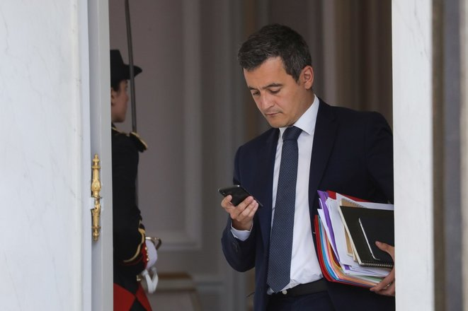 Quick to react to the story, interior minister Gérald Darmanin; seen here at the Élysée in June 2019. © Ludovic Marin / AFP
