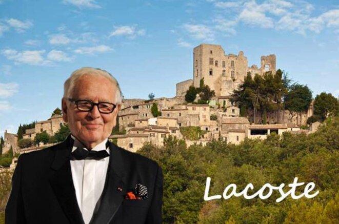 Pierre Cardin au château de Lacoste © Alain Laugier