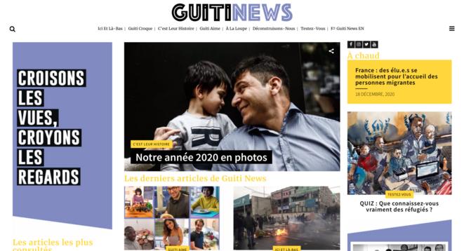 Le site de Guiti News