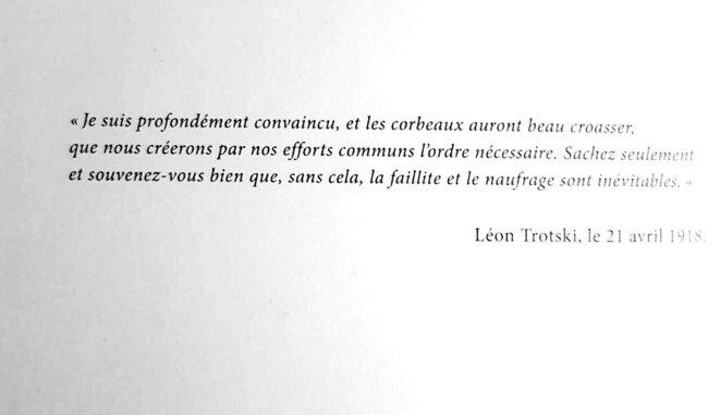 Carton de vœux © Léon Trotsky (propos déformés)