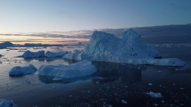 Des glaciers Fjord de la ville du nord de Groenland. © Mortaza Behboudi / 31 décembre 2020
