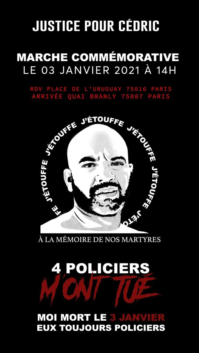 Appel de la marche en mémoire de Cédric Chouviat