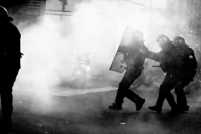 """""""Montpellier. Acte X : les gilets jaunes restent déterminés malgré une forte répression"""", 20 janvier 2019 © LePoing"""
