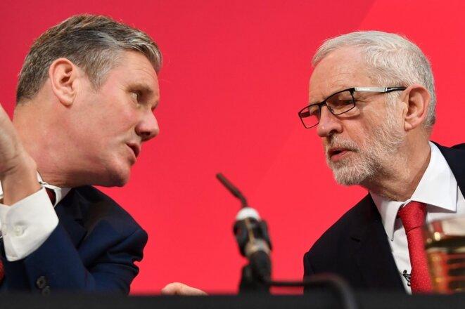 Keir Starmer et Jeremy Corbyn, en décembre 2019.
