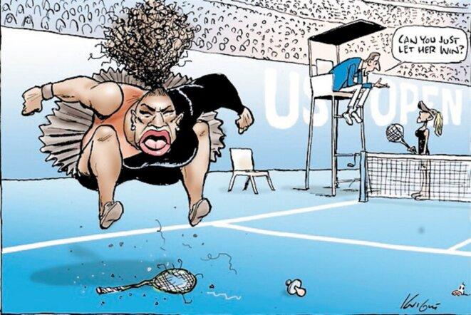 caricature de Serena Williams