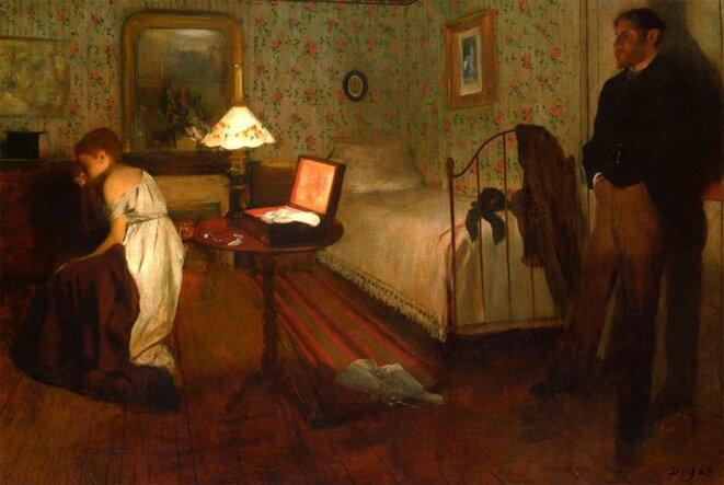 Le viol © Edgar Degas