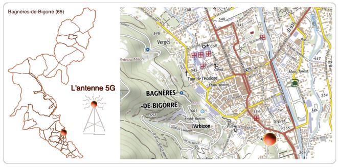 L'Antenne 5G  Bagnères-de-Bigorre © AB