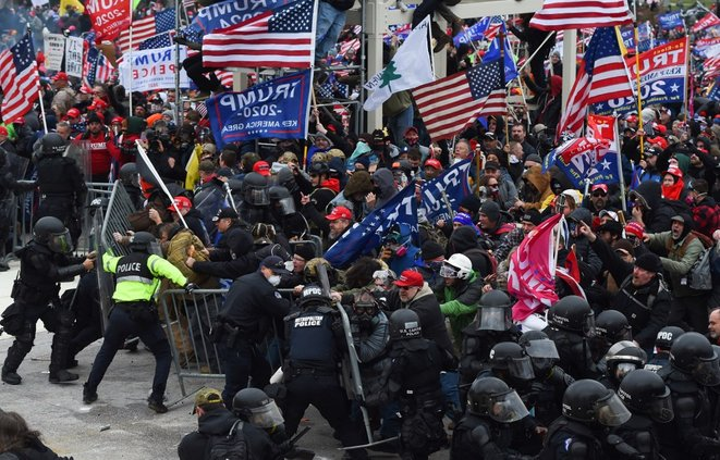 A Washington, le 6 janvier. © Roberto Schmidt/AFP