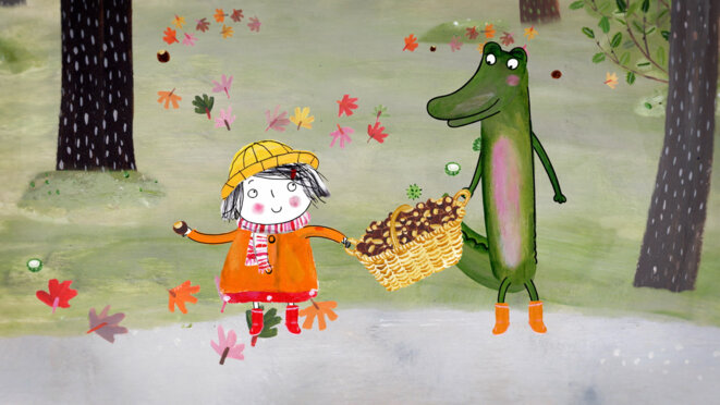 """Rita & Crocodile"" de Siri Melchior © Folimage"