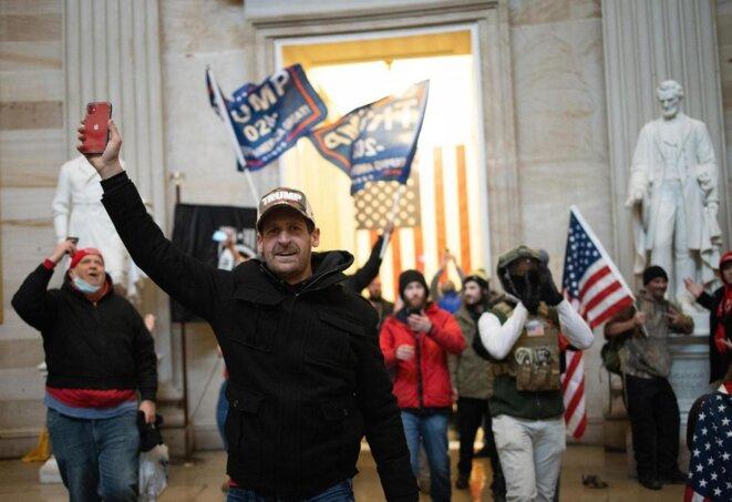 USA | Washington | Capitole, le 6 Janvier 2021, les soutiens de Donal TRUMP© 2021 D.R./DBNEWS