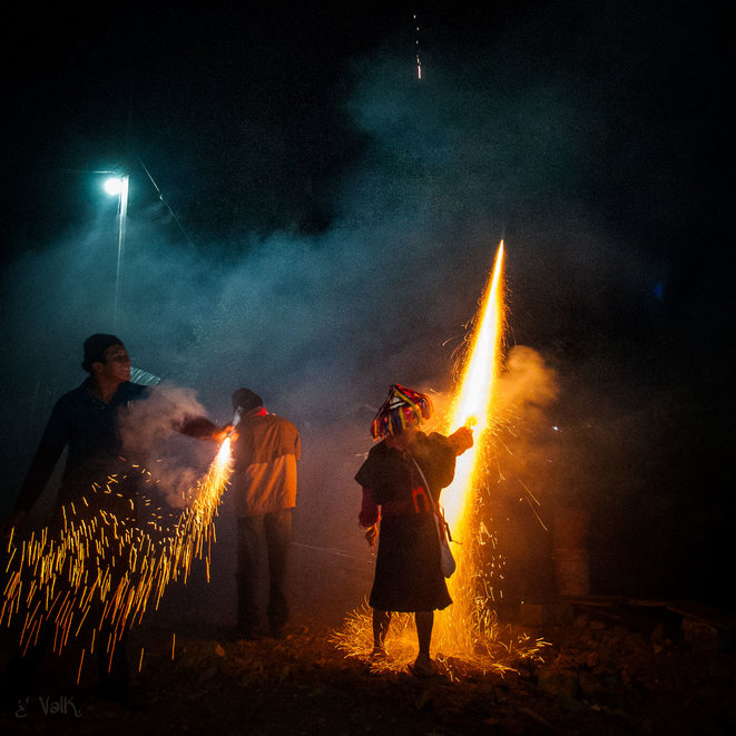 1er janvier 2015, Caracole d'Oventic, Chiapas, Mexique. Festival des Résistances et Rebellions contre le Capitalisme. © ValK.