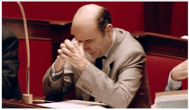 Le Premier ministre Alain Juppé à l'Assemblée nationale, le 12 décembre 1995. © Patrick Kovarik/AFP