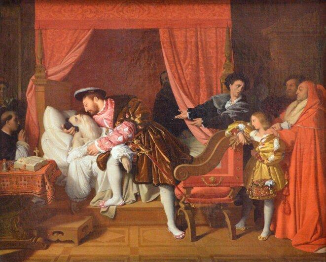 J.A.D.Ingres. 1818. François Iᵉʳ reçoit les derniers soupirs de Léonard de Vinci