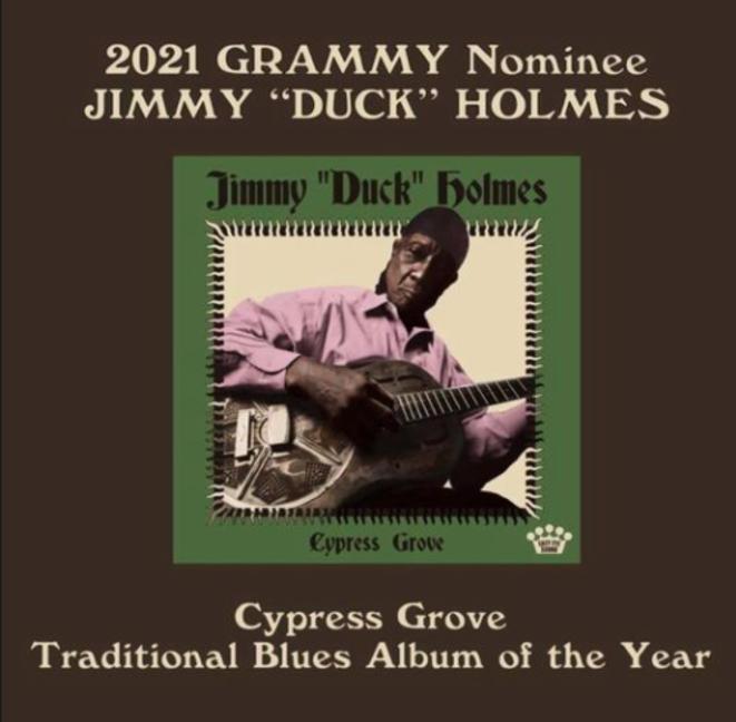 """Cypress Grove (2019), le nouvel album de Jimmy """"Duck"""" Holmes."""