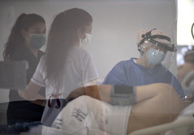 À l'hôpital Posadas, près de Buenos Aires, le 18 septembre 2020. © Ronaldo Schemidt/AFP