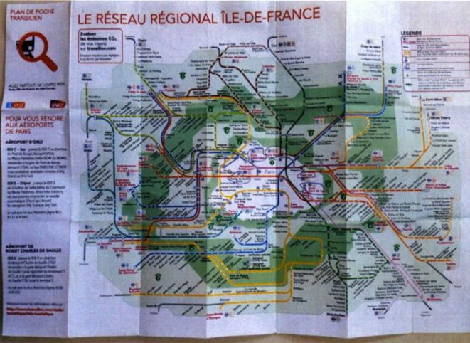 Dans une planque d'Hicham el-Hanafi au Portugal, cette carte des transports franciliens avait été affichée avec plusieurs stations annotées au stylo bille, à chaque fois des lieux de forte affluence, constatera la DGSI. © DR