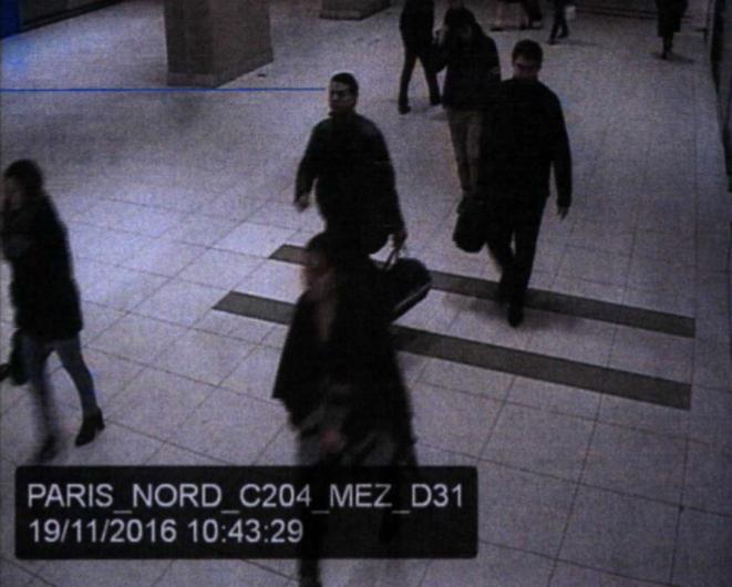 Le 19 novembre 2016, Hicham el-Hanafi (ici gare du Nord) se rend à la gare de Lyon pour prendre le TGV qui le conduira à Marseille. © DR