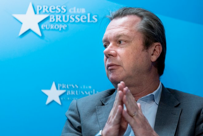 Jérôme Rivière, le 2 octobre 2019 à Bruxelles © Kenzo TRIBOUILLARD / AFP