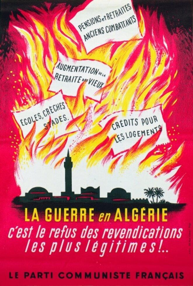 Annexe 3 : Affiche du PCF sur la guerre d'Algérie. © PCF