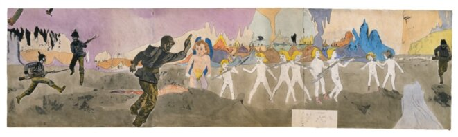 Untitled, n.d. watercolor and pencil on paper © Henry Darger