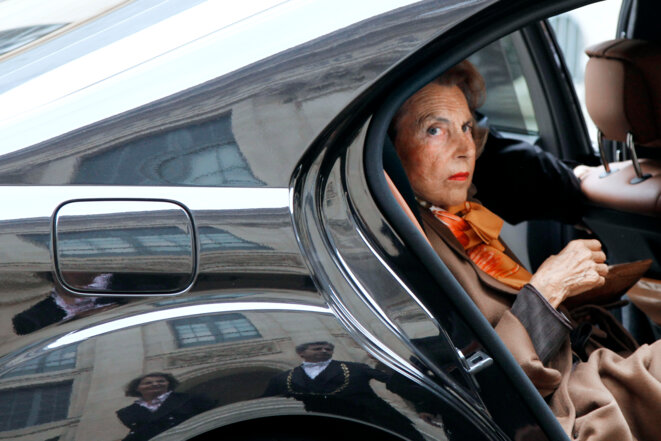 The late L'Oréal heiress and billionaire Liliane Bettencourt, pictured here in Paris in October 2011. © FRANCOIS GUILLOT / AFP