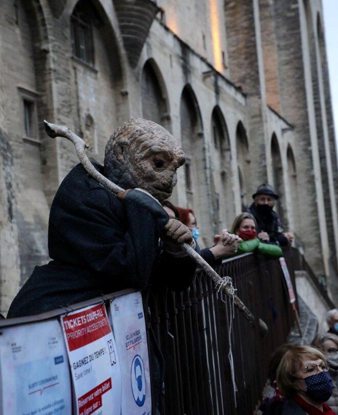 Lors de la manifestation contre la fermeture des lieux culturels le 15 décembre 2020 à Avignon. © Patrick Roux