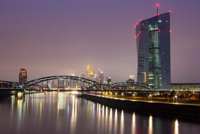 L'immeuble de la BCE à Francfort. © Boris Roessler / DPA PICTURE-ALLIANCE via AFP