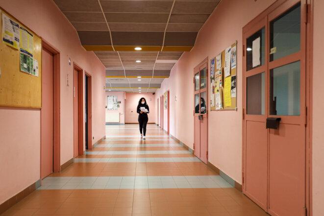 Au lycée Guillaume Apollinaire de Nice © ARIE BOTBOL / Hans Lucas / Hans Lucas via AFP