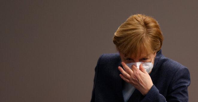 La chancelière allemande, Angela Merkel, le 16 décembre 2020. © Odd ANDERSEN / AFP