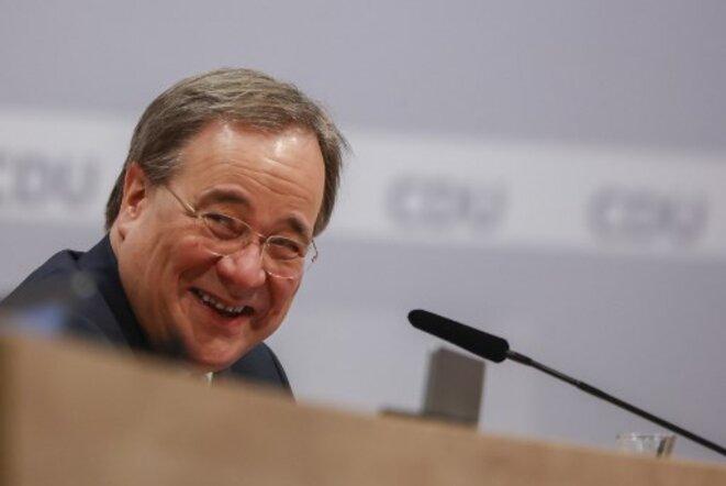 Armin Laschet élu président de la CDU le 16 janvier. © Odd Andersen / AFP